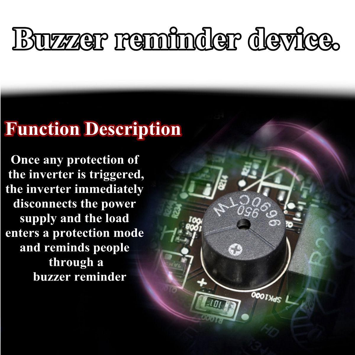 Inversor 12 V/24 V 220 V/2000/3000/4000 W transformador de voltaje inversor de potencia de onda sinusoidal pura DC12V a AC 220 V convertidor + 2 pantalla LED - 4