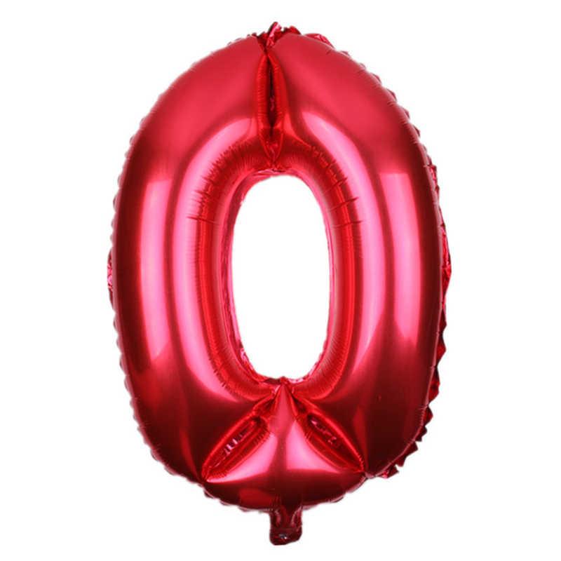Новый 1 шт. 30 дюймов Большой Красный Черный Синий Розовый цифры шары гелиевый надувной Свадебный день рождения Декор юбилей мяч