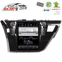 Android 7,1 10,4 Тесла Стиль для автомобиля Toyota Corolla мультимедийный плеер 2013 2017 Bluetooth Радио WI FI 4G вертикальной стерео ips
