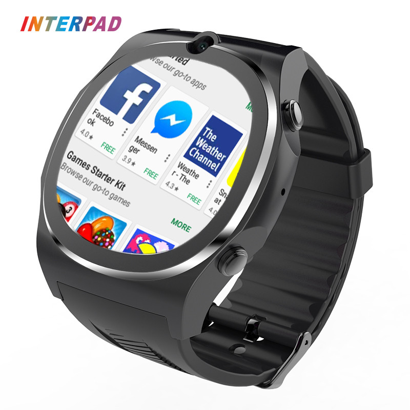 Interpad Android iOS Smart Watch 1.54 Inch HD Screen Support SIM SD Card Wifi GPS SMS Camera Smartwatch For xiaomi iPhone 8 interpad gps tracking smart watch elderly anti lost wrist watch cellphone support sim card pedometer smartwatch for android ios