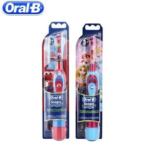 Image 4 - אוראלי B ילדי חשמלי מברשת שיניים אוראלי טיפול ילדים סוניק אלקטרוני מברשת שלבים סוללה כוח שן מברשת חשמלי