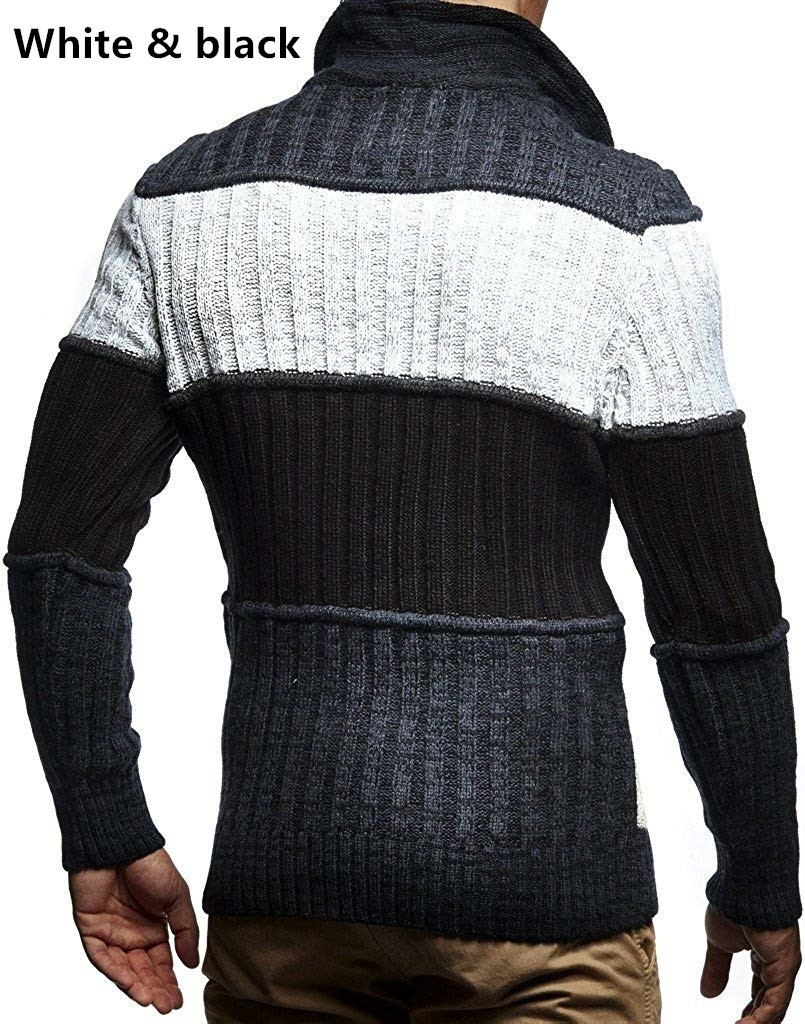 Men's Knit Pullover Stand Collar Slim Winter Warm Long Sleeve Sweater Long Sleeve High Quality Hip Hop Streetwear Man's Sweaters