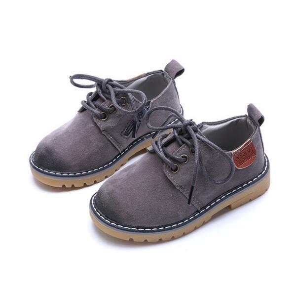 Mutter & Kinder Kinder Schuhe Jungen Martain Stiefel New Spring Solid Gentleman Mode Jungen Schuhe Kinder Weiche Außen Mädchen Stiefel Schuhe Größe 21-36