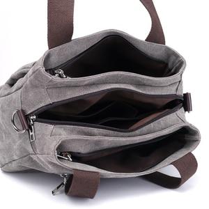 Image 4 - Çanta kadın çantası kanvas çanta kadınlar için 2019 büyük Tote bayan çanta bayan tasarımcı omuz askılı postacı çantaları kadın Crossbody çanta