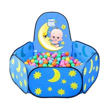 Foldable Baby Star Moon Balls Pool Pit Indoor Outdoor Children Baby Toy Game Play House Kids Gift Play Tent With Ball Frame