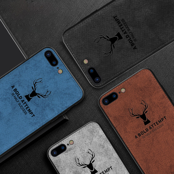 Case For iPhone Deer Cloth Texture Soft Back Cover 5