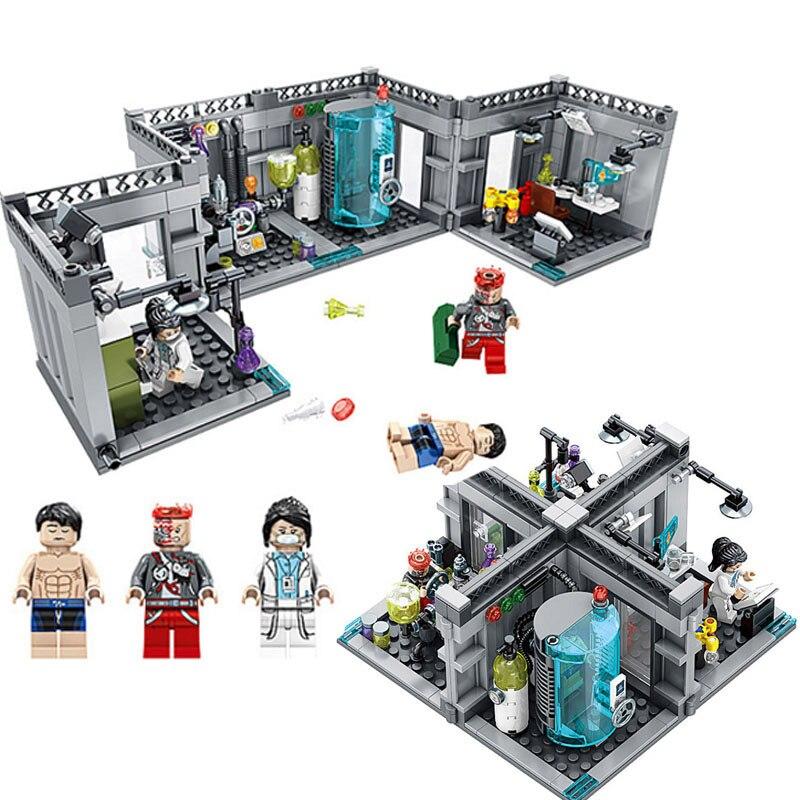 2 Modelings City Police Figures Biochemical Lab Model Building Blocks Compatible Legoe Technic City Enlighten Bricks Toy For Kid