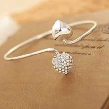 JETTINGBUY Rhinestone Love Heart Armband Armlet Bracelets & Bangles New Fashion Bracelet for Women Girl Lady Jewelry Arm Cuff(China)