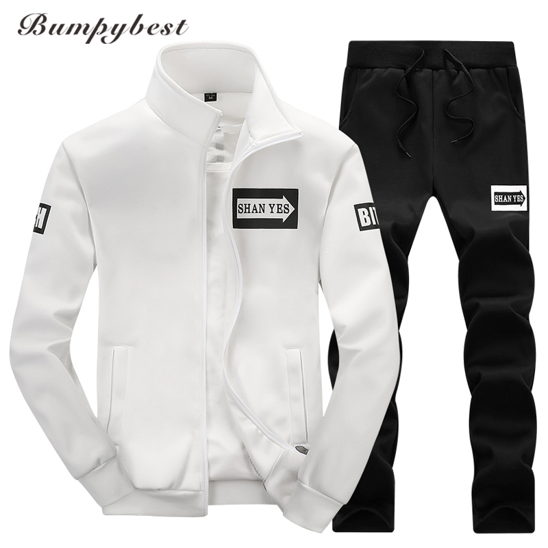Bumpybeast 2018 sportswear hoodies set Autumn men clothes Polo track suits tracksuits male sweatshirts & Coats Joggers size 4XL