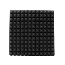 45x45x3cm Black Soundproofing Foam Acoustic Foam Sound Treatment Absorption Wedge Tiles Pack Studio/Music