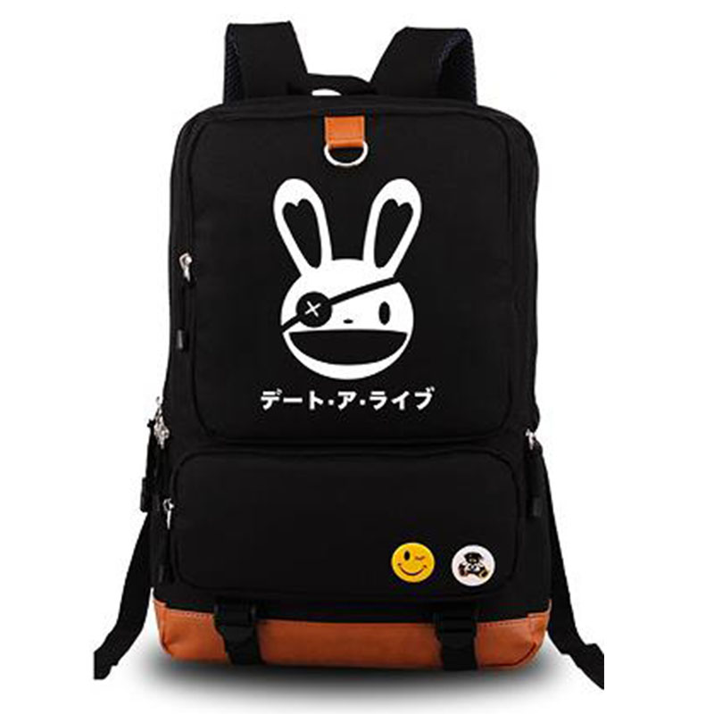 ФОТО DATE A LIVE Yatogami Tohka Anime Cosplay Cartoon Bag Unisex Shoulder Bags Schoolbag Laptop Backpacks On Sale