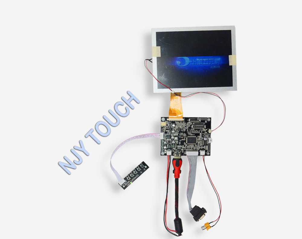 New 8inch A080SN01 V0 LCD Screen Panel Plus HDMI VGA AV LCD Controller Board Kit