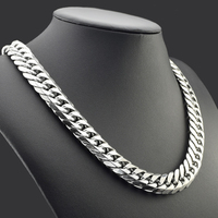 CHIMDOU New Style Heavy Chunky Necklaces Stainless Steel Fashion For Men Miami Six Cut Curb Chain 60CM 16MM Wide Long Necklace
