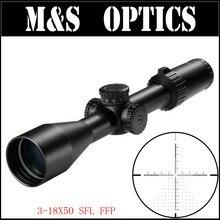 Nueva MARCOOL S.A.R Optical Sight. HD 3-18X50 SFL FFP Primer Plano Focal Óptica Mira Telescópica Alcance Para Rifles de Caza Táctico