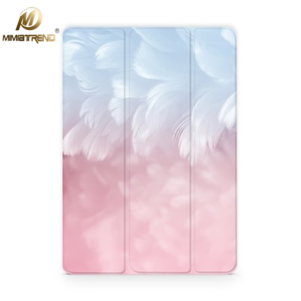 Mimiatrend Pink Feather Leather Case For New iPad 9.7 Pro 10.5 inch Ultra Thin Flip Cover Case For New iPad Air 2 Coque Fundas leather case flip cover for letv leeco le 2 le 2 pro black