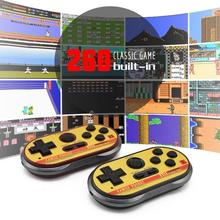 Data Frog Mini Video Gaming Console  NTSC For FC30 Pro Build In 260 Classic Games 8 Bit Handheld Game Players Support TV Output
