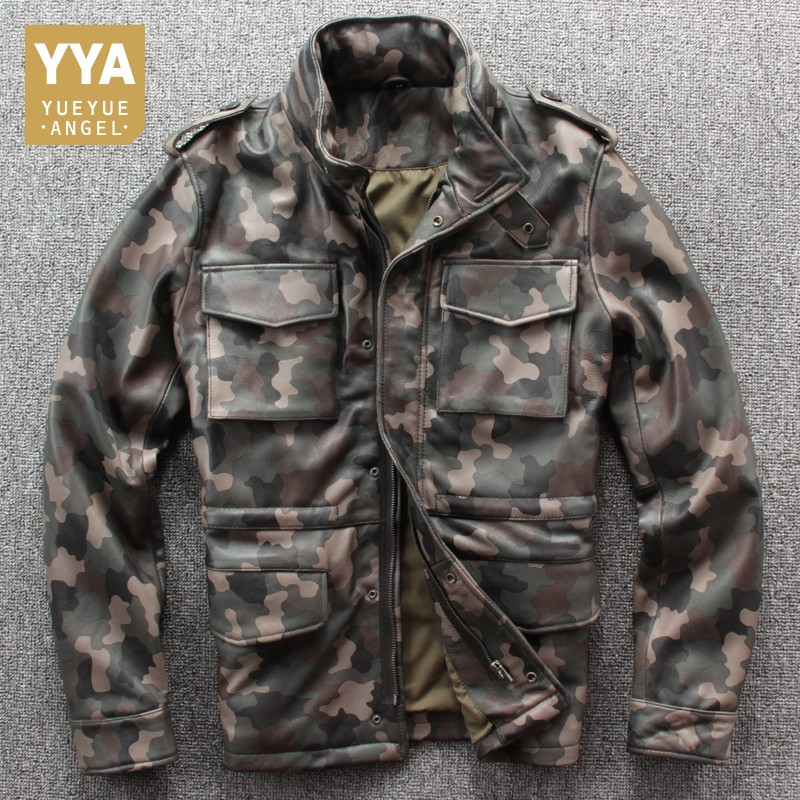 Army Green Mens Genuine Leather Jackets Autumn Biker Pilot Leather Jacket New Design 2019 Winter Coat Men Jaqueta Masculina XXXL-in Genuine Leather Coats from Men's Clothing    1