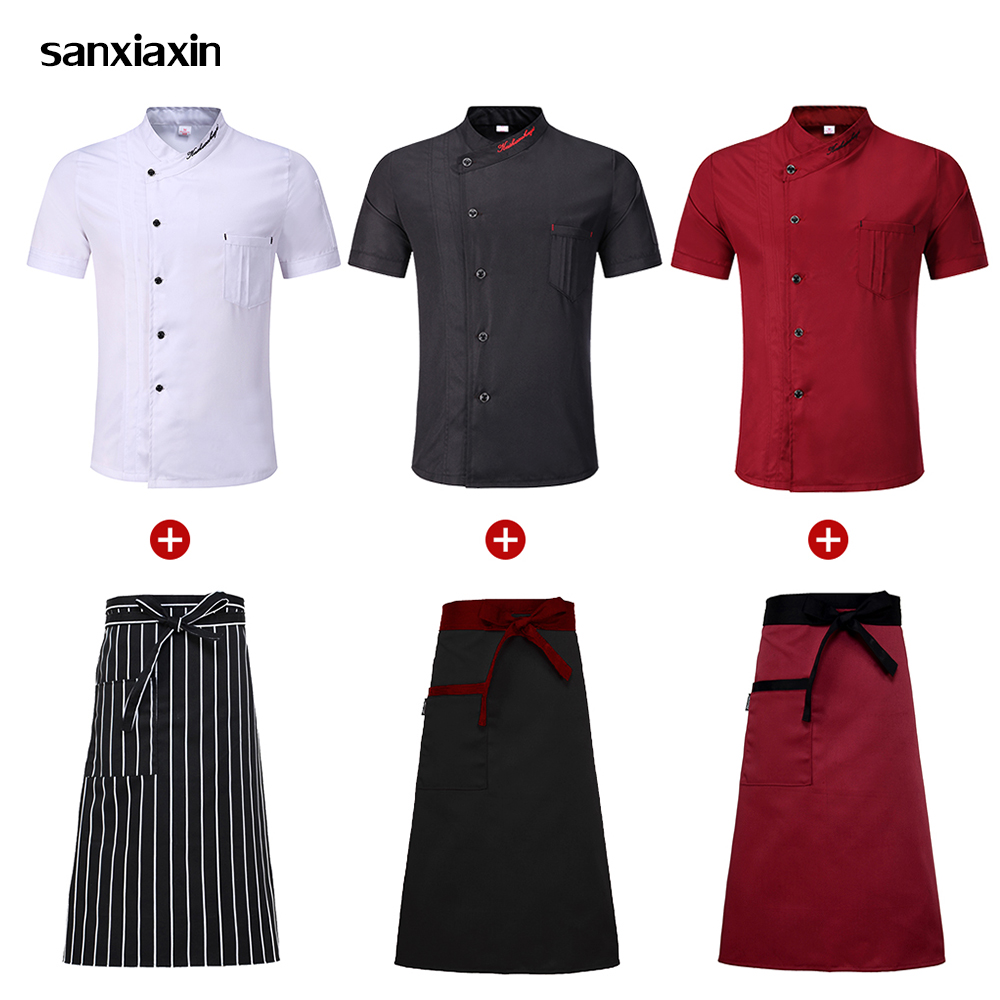Wholesale Black Chef Jacket Shirts New Clothes Hotel Chef Uniform Restaurant Waitress Uniforms Catering Bakery Kitchen Workwear