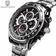 2016 Relojes de Caballero De Marca Sport Luxury Reloj de Buceo 30 m Militar Relojes de Cuarzo Multifunción Reloj Pagani Diseño Reloj Hombre