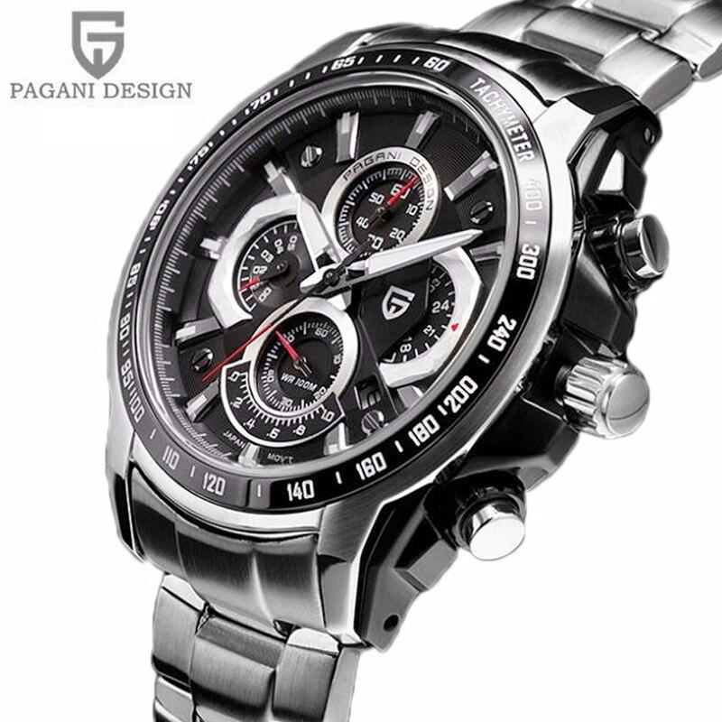 2018 zegarki mężczyźni luksusowa marka Sport zegarek do nurkowania 30 m wojskowy zegarki wielofunkcyjny zegarek kwarcowy Pagani projekt Reloj Hombre w Zegarki kwarcowe od Zegarki na  Grupa 1
