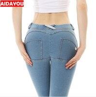 Сексуальные джинсы прикладом подъема хорошо тянется плюс Размеры колумбийских Штаны Хип Push Up узкие джинсы Sexy Push Up ouc262BB