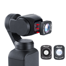 Mini Geniş Açı Makro Lens için Dji Osmo Cep 10X HD 4K Makro Lens Gimbal Aksesuarları Manyetik Ulanzi OP 5 OP 6 Lensler
