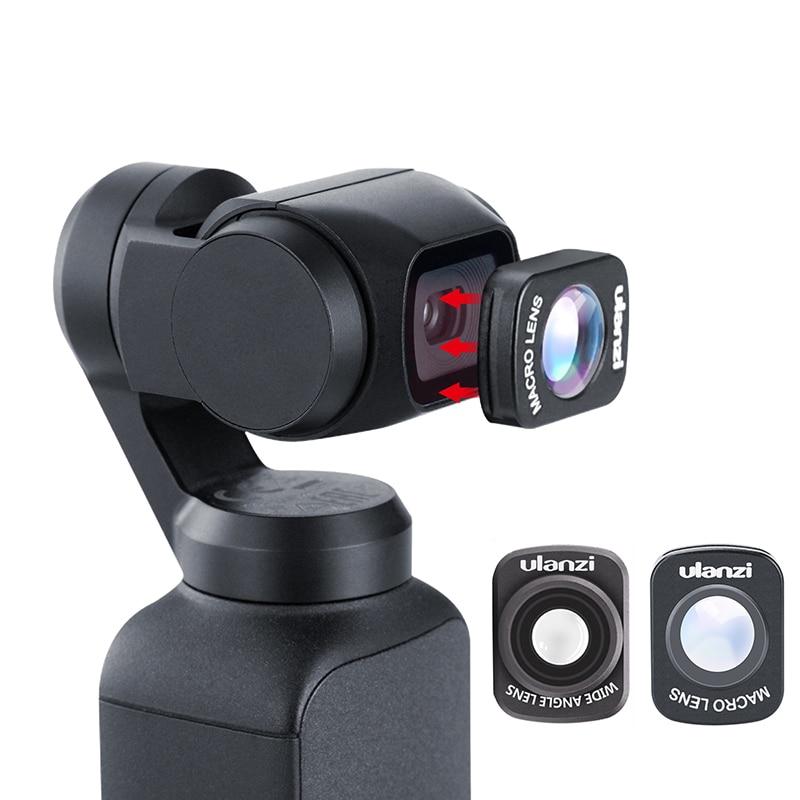Mini Wide Angle Macro Lens for Dji Osmo Pocket 10X HD 4K Macro Lens Gimbal Accessories Magnetic Ulanzi OP-5 OP-6 Lenses
