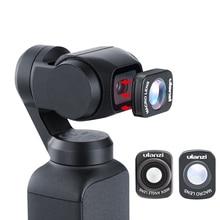 Mini szeroki kąt obiektywu makro dla Dji Osmo kieszeń 10X HD 4K obiektyw makro Gimbal akcesoria magnetyczne Ulanzi OP 5 OP 6 soczewki