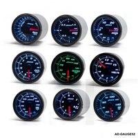 52mm 7 Color LED Car Meter Tachometer Turbo Boost Gauge /Air Fuel Ratio /Volt /Water temp / W Sensor Holder AD GAUGE52
