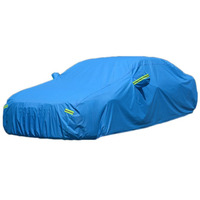 New Universal Thickening Large Car Cover Indoor Outdoor Against Sun Rain Dust UV Rays Protective Breathable Flocking Car Cover|Car Covers|Automobiles & Motorcycles -
