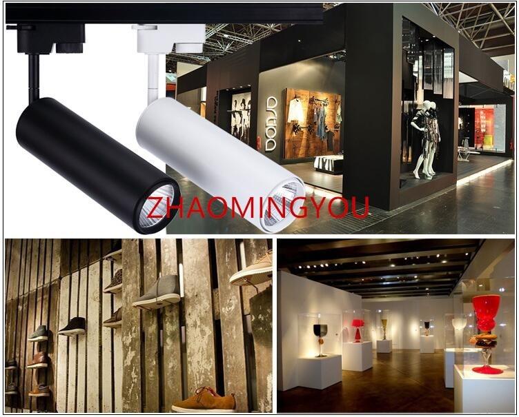 YOU PCS LED Track Light COB W W Ceiling Rail Lights Spotlight - Kitchen rail lighting