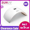 SUNUV SUN9s 24 W UV lámpara LED de uñas LED secadora máquina polaca para curar Gel de esmalte de uñas de arte