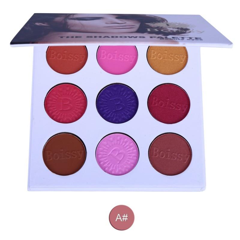 Women Autumn Vintage Eyeshadow Pigment Shine Eyeshadow Shimmer Matte Makeup Palette 9 Colors