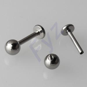 Image 1 - High Polishing G23 Titanium Internal Thread Labret Lip Piercing 14G 16G Ear Cartilage Helix Tragus Stud Body Jewelry