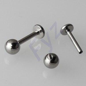 Image 1 - Polissage élevé G23 titane filetage interne Labret lèvre Piercing 14G 16G oreille Cartilage hélice Tragus goujon bijoux de corps