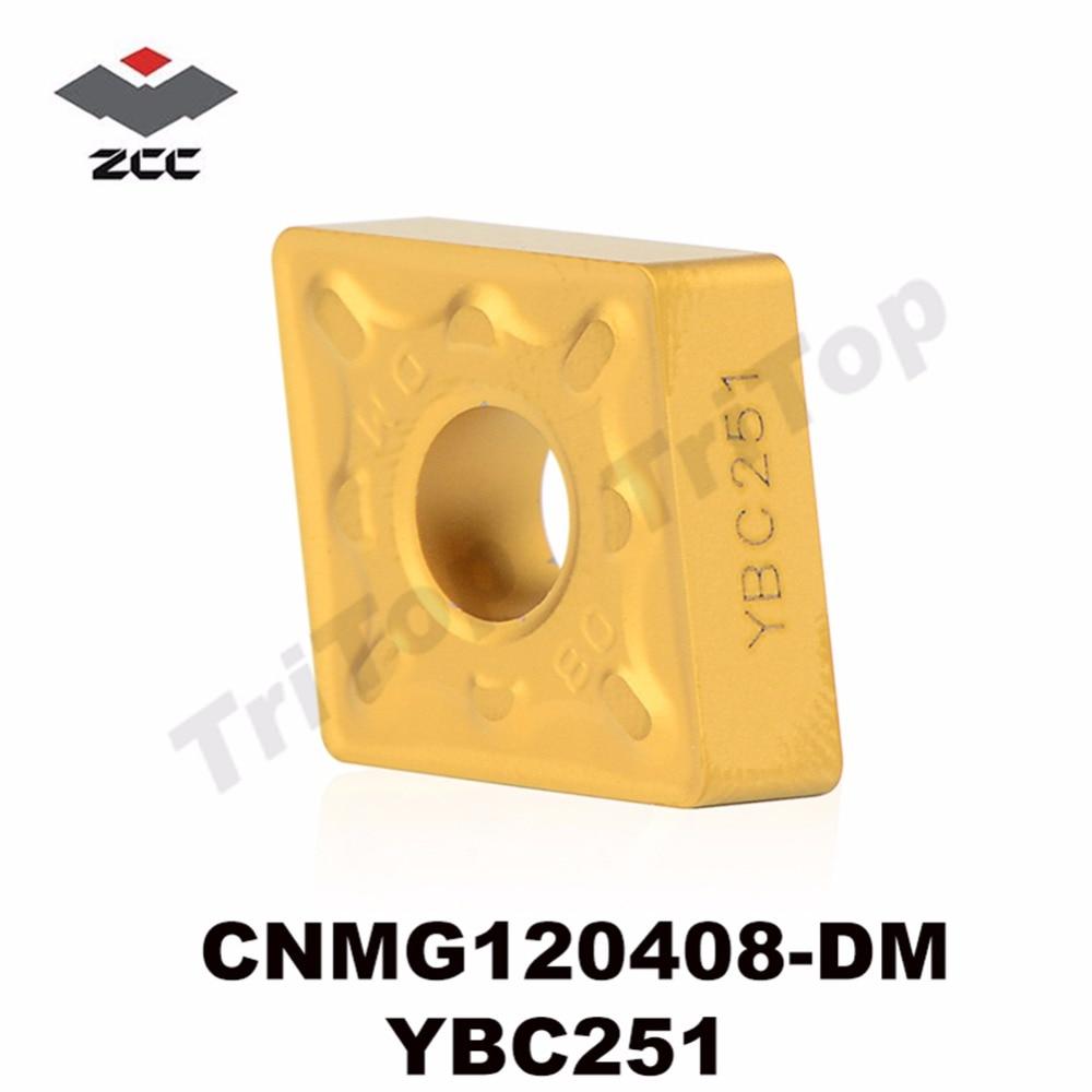 CNMG120408-DM YBC251 plaquettes de tournage en carbure indexables Cutter pour porte-tour MCLNR/MCRNR/MCKNR CNMG120408 CNMG432