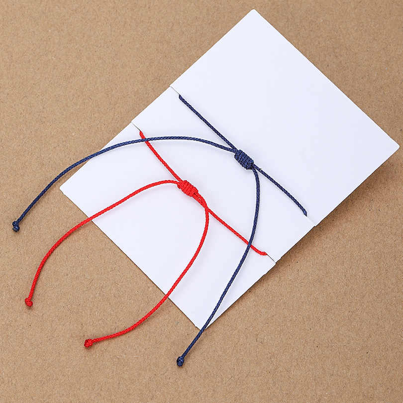 VEKNO 2 PCS/Lot chanceux bleu mauvais œil rouge chaîne Bracelet charme unisexe spirituel Nazar bracelet pour femmes hommes enfants Talisman bijoux