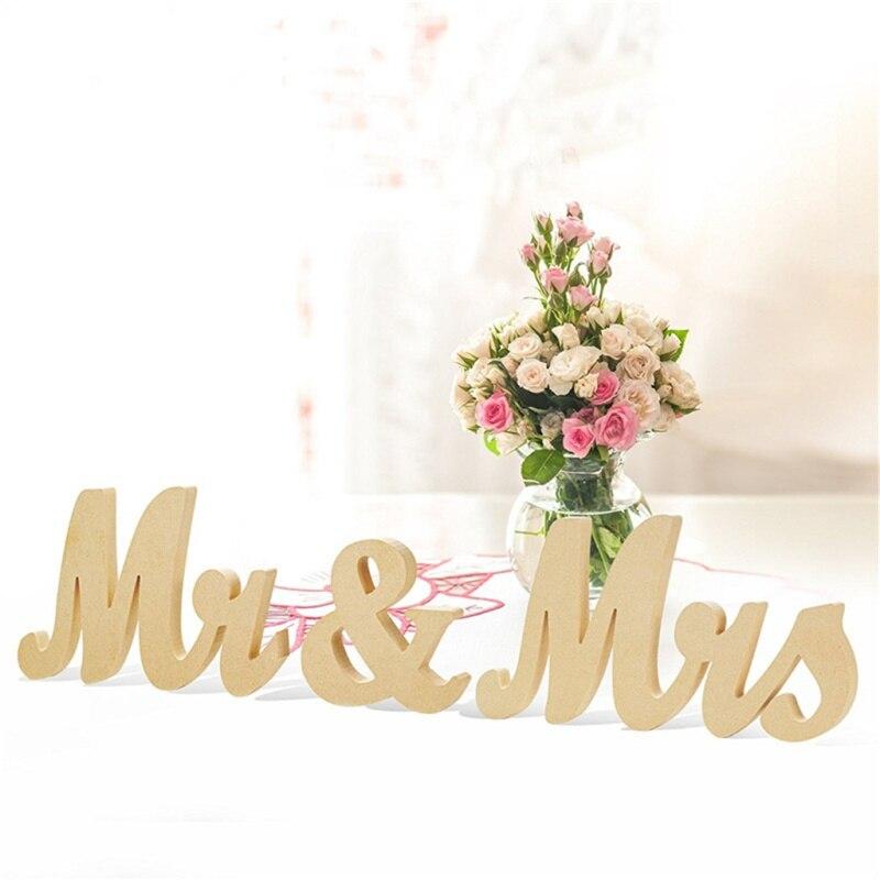 Деревянный Mr & Mrs буквы знак DIY Декор для Свадебные украшения Настольный Декор свадебных Gift2018 Новый