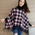4341 - 2016 new winter dress checkered cloak 78