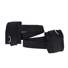 Black Resistance Band Cuff Workout Leg Training 1Pair Ankle Straps Fitness Exercise Body building Gym Equipment Band(China)