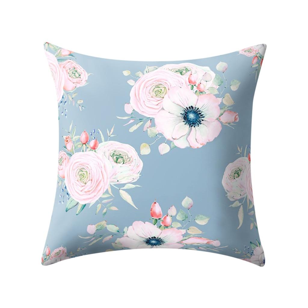 Kraftly Global Canvas Cotton Navy Blue /& White Trellis Pattern Cushion Cover