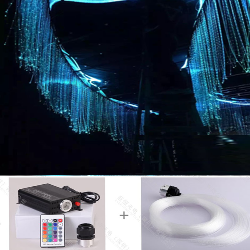Dot sparkle End glow plastic PMMA optic fiber chandelier for home theatre lights lighting writing for theatre