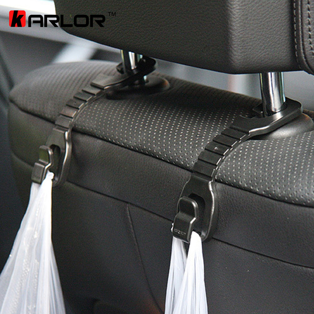4pcs/lot High quality black color car hook car seat pothook Car Wear hook rair-conk ABS Bearing Automobiles Accessories 3kg