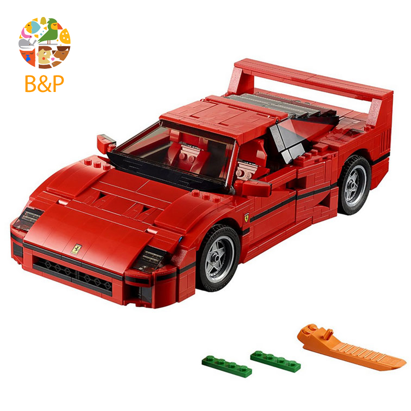 lepin Legoing 10248 1158Pcs Technic Series The F40 Sports Car Model Building Blocks Toys For Children Gift 21004 21004 1157pcs technic series f40 sports car building blocks set bricks educational toys for kids gifts compatible with 10248