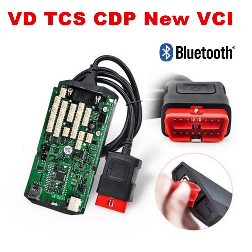 品質 A + + + 新 vci シングルグリーン PCB と bluetooth 搭載カバー 2016.00/2015。 r3 VD TCS CDP プロ車/トラック診断ツール  グループ上の 自動車 &バイク からの 機械式テスター の中 1