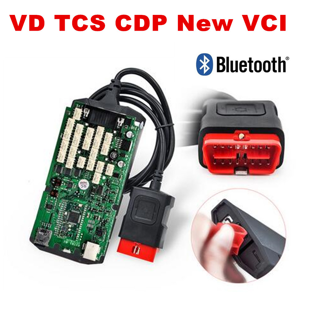 Quality A+++New vci Single green PCB With bluetooth with Cover 2016.00 /2015.R3 VD TCS CDP PRO for cars /trucks diagnostic tool-in Mechanical Testers from Automobiles & Motorcycles    1