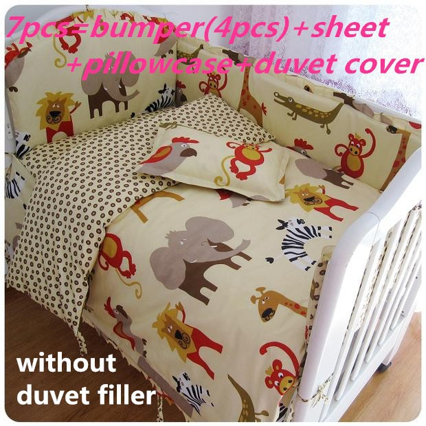 Promotion! 6/7PCS Baby crib bedding set Baby bedding set with house Home goods comforter cover sets , 120*60/120*70cm цена и фото