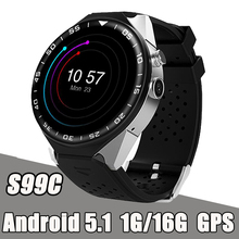 RUIJIE S99C Android 5.1 Bluetooth Smart Watch Phone MTK6580 2.0MP Camera 1G/16G Smartwatch 3G WIFI GPS SIM Card Heart Rate S99 стабилизатор напряжения powercom tca 2000 4 розетки 1 м черный