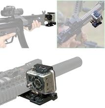 Консольные Уивер Пикатинни пистолет железнодорожных Сторона Крепление для GoPro Hero 4/3 +/3/2/1 Камера