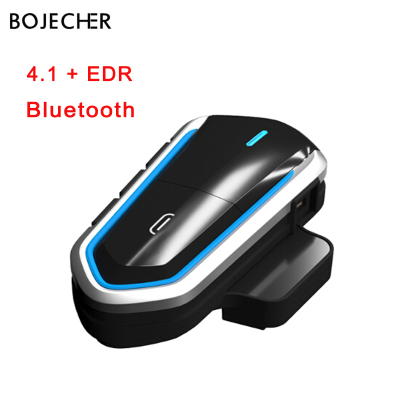 Wireless Bluetooth Earphone Motorcycle Helmet Headsets Riding Handsfree FM Radio Stereo 4.1 EDR+CSR Chip Waterproof Long Stand